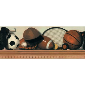 allen + roth 6-7/8&#034; Neutral All Sports Prepasted Wallpaper Border