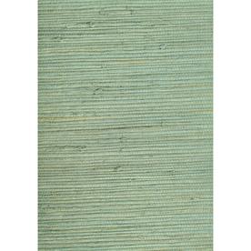 shop allen roth green grasscloth unpasted textured