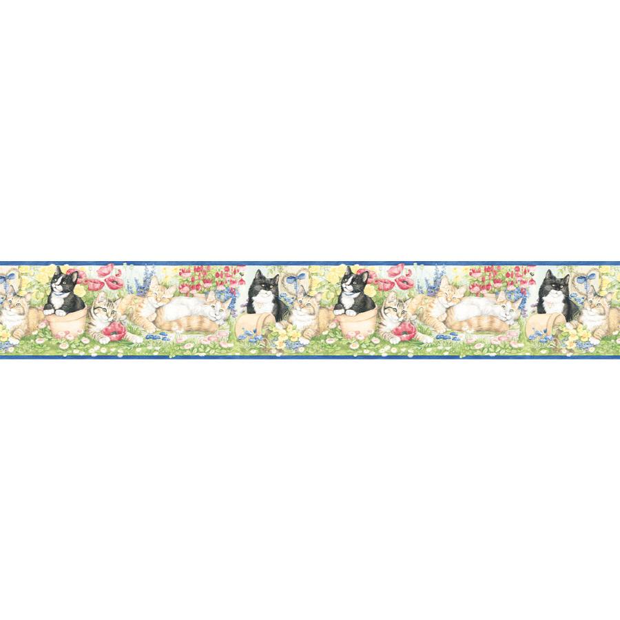 shop village 6 7 8 garden kittens prepasted wallpaper