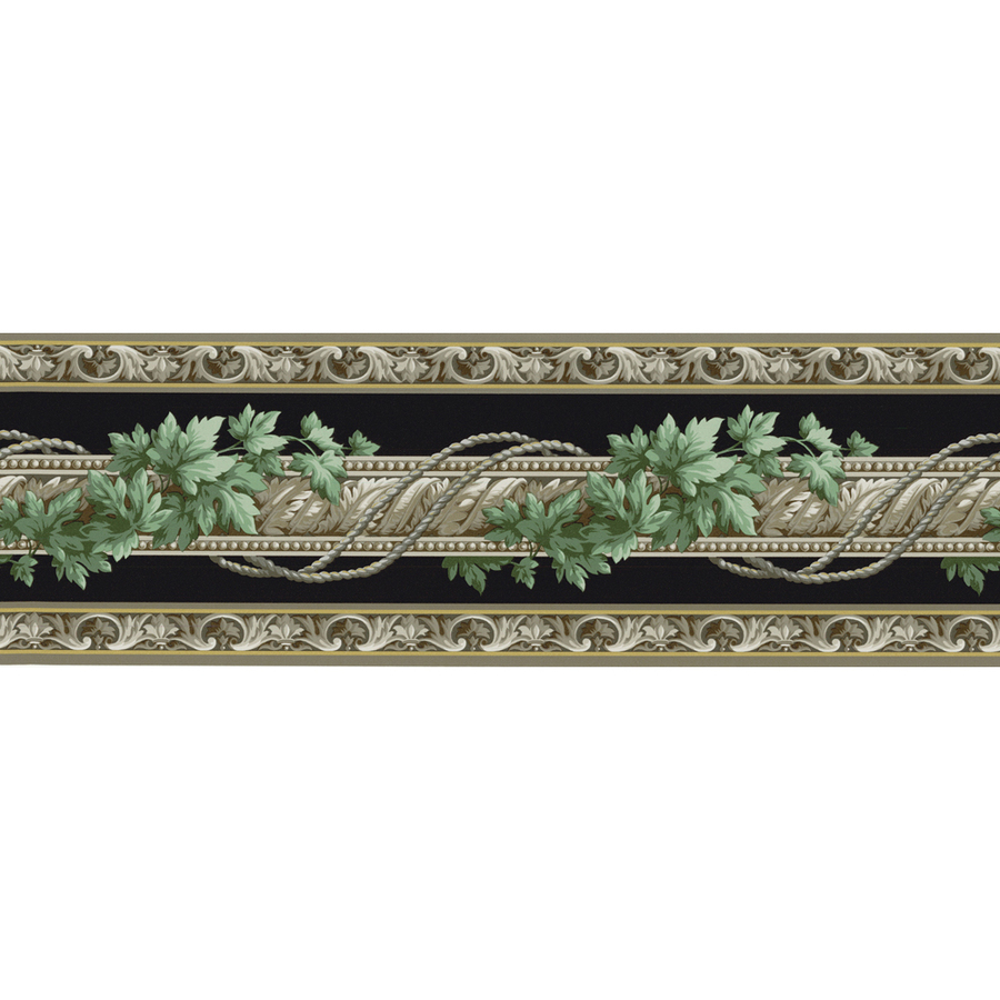 shop allen roth 6 7 8 black architectural ivy prepasted