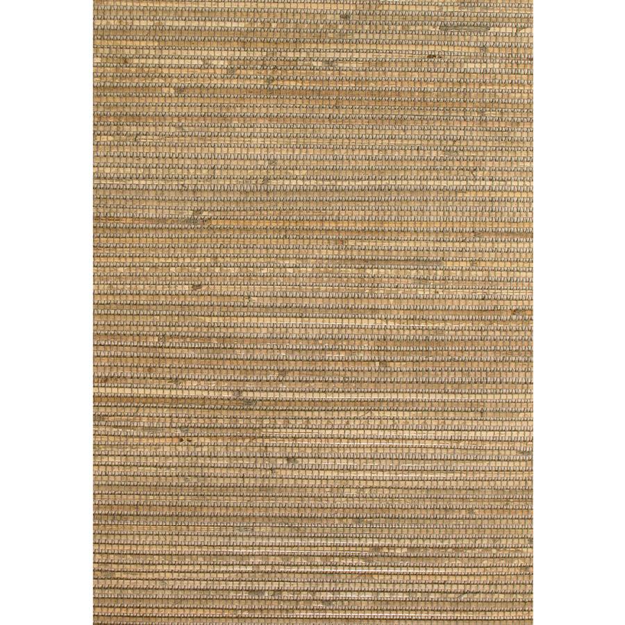 Shop Allen + Roth Brown Grasscloth Unpasted Textured