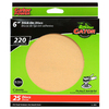 Gator 25-Pack 220-Grit 6-in W x 6-in L Stick-On Sanding Disc Sandpaper