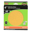 Gator 20-Pack 40-Grit 6-in W x 6-in L Sanding Discs Sandpaper
