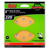 Gator 5-Pack 220-Grit 5-in W x 5-in L 8-Hole Stick-On Sanding Disc Sandpaper