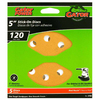 Gator 5-Pack 120-Grit 5-in W x 5-in L 8-Hole Stick-On Sanding Disc Sandpaper