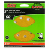 Gator 5-Pack 5-in W x 5-in L 60-Grit Commercial 8-Hole Hook and Loop Sanding Disc Sandpaper