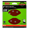 Gator 5-Pack 220-Grit 5-in W x 5-in L 8-Hole Hook and Loop Sanding Disc Sandpaper