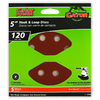 Gator 5-Pack 120-Grit 5-in W x 5-in L 8-Hole Hook and Loop Sanding Disc Sandpaper