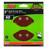 Gator 5-Pack 60-Grit 5-in W x 5-in L 8-Hole Hook and Loop Sanding Disc Sandpaper