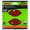 Gator 5-Pack 120-Grit 5-in W x 5-in L 5-Hole Hook and Loop Sanding Disc Sandpaper