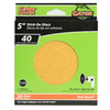 Gator 20-Pack 40-Grit 5-in W x 5-in L Sanding Discs Sandpaper