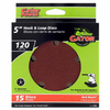 Gator 15-Pack 120-Grit 5-in W x 5-in L 5-Hole Hook and Loop Sanding Disc Sandpaper