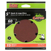 Gator 15-Pack 60-Grit 5-in W x 5-in L 5-Hole Hook and Loop Sanding Disc Sandpaper