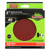 Gator 15-Pack 40-Grit 5-in W x 5-in L Stick-On Sanding Disc Sandpaper