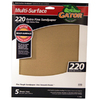 Gator 5-Pack 220-Grit 9-in W x 11-in L Multi-Surface Sandpaper