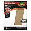 Gator 15-Pack 100-Grit 9-in W x 11-in L Multi-Surface Sandpaper