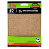 Gator 6-Pack 60-Grit 4-1/2-in W x 4-1/2-in L 1/4 Sheet Clamp-on Sandpaper