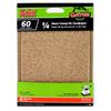 Gator 6-Pack 60-Grit 4-1/2-in W x 4-1/2-in L 1/4 Sheet Clamp-on Sandpaper