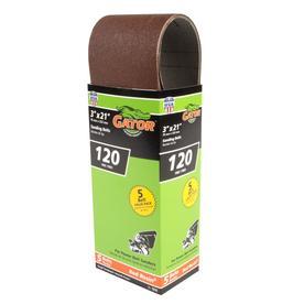 Gator 5-Pack 120-Grit 3-in W x 21-in L Sanding Belt Sandpaper