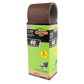 Gator 5-Pack 3-in W x 21-in L 40-Grit Commercial Sanding Belt Sandpaper