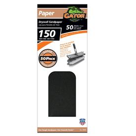 Gator 50-Pack 150-Grit 4-1/4-in W x 11-1/4-in L Precut Drywall Sandpaper