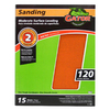 Gator 15-Pack 120-Grit 9-in W x 11-in L Moderate Surface Leveling Sandpaper