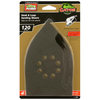 Gator 4-Pack 120-Grit 5-1/2-in W x 9-in L Hook and Loop Detail Sandpaper