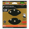 Gator 4-Pack 120-Grit 5-in W x 5-in L 8-Hole Hook and Loop Sanding Disc Sandpaper