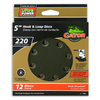 Gator 12-Pack 220-Grit 5-in W x 5-in L 8-Hole Hook and Loop Sanding Disc Sandpaper