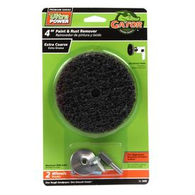 Gator 2-Pack 40-Grit 4-in W x 4-in L Paint and Rust Remover Wheel Sandpaper