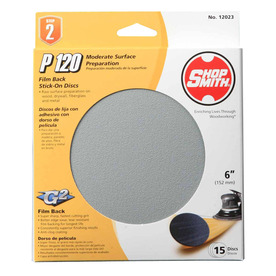 Shopsmith 15-Pack 120-Grit 6-in W x 6-in L Sanding Disc Sandpaper