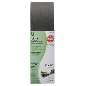 Shopsmith 4-Pack 3-in W x 24-in L 80-Grit Commercial Sanding Belt Sandpaper