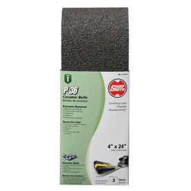 Shopsmith 3-Pack 4-in W x 24-in L 36-Grit Commercial Sanding Belt Sandpaper