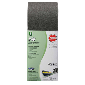 Shopsmith 3-Pack 60-Grit 4-in W x 24-in L Sanding Belt Sandpaper