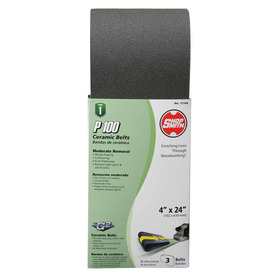 Shopsmith 3-Pack 4-in W x 24-in L 100-Grit Commercial Sanding Belt Sandpaper