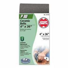 Shopsmith 4-in W x 36-in L 80-Grit Commercial Sanding Belt Sandpaper