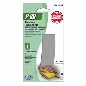 Shopsmith 4-Pack 3-in W x 5.25-in L 80-Grit Commercial Sanding Sheets