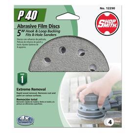 Shopsmith 4-Pack 5-in W x 5-in L 40-Grit Commercial Sanding Discs Sandpaper
