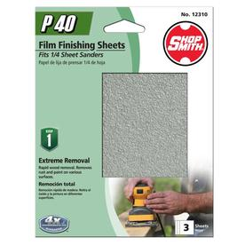 Shopsmith 3-Pack 4.5-in W x 5.5-in L 40-Grit Commercial Clamp-On Sanding Sheets