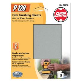 Shopsmith 5-Pack 120-Grit 4.5-in W x 5.5-in L Sanding Sheets Sandpaper