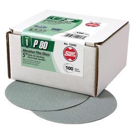 Shopsmith 100-Pack 80-Grit 5-in W X 5-in L Sandpaper Discs 12402