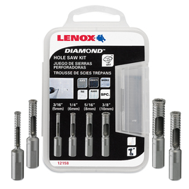 LENOX 4-Piece Diamond Hole Saw Kit
