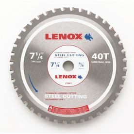 LENOX 7-1/4-in 40-Tooth Continuous Carbide Circular Saw Blade