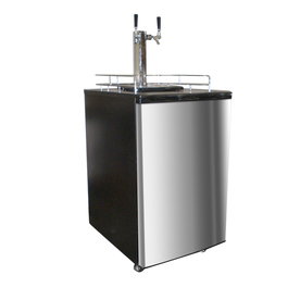 Nostalgia Electrics Double-Tap Stainless Steel Freestanding Kegerator