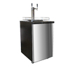 Nostalgia Electrics Half-Barrel Keg Stainless Steel Manual Freestanding Kegerator