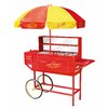 Nostalgia Electrics Vintage Carnival Hot Dog Cart and Umbrella