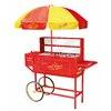 Nostalgia Electrics Vintage Carnival Hot Dog Cart and Umbrella