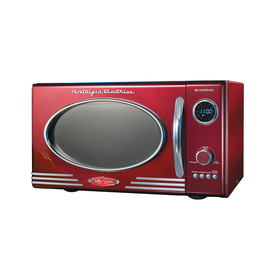 Nostalgia Electrics 0.9 cu ft 800-Watt Countertop Microwave (Red)