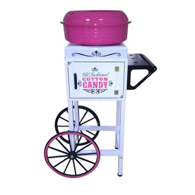 Nostalgia Electrics White Cotton Candy Maker Cart CCM510