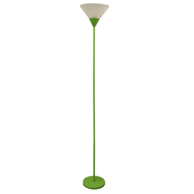 Portfolio 3-Way Green Torchiere Floor Lamp